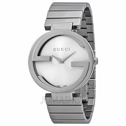 Gucci Gucci enclavamiento Plata Dial Acero inoxidable Acero Damas Reloj YA133308