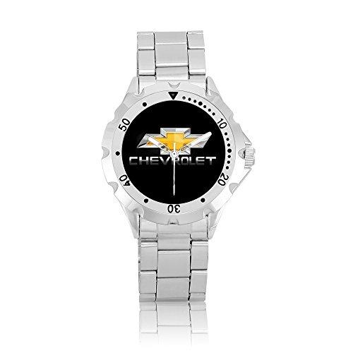 zoomeveryday-chevrolet-rotating-bezel-stainless-steel-wrist-watch-black