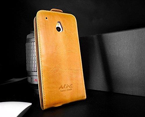 URCOVER® Custodia portafoglio HTC One Mini | Protettiva Akira Fatta a Mano | Wallet Case (Fucsia Bambù)
