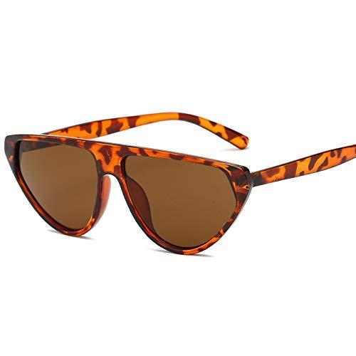 Europa und die Vereinigten Staaten Sonnenbrille Mode Damen Sonnenbrille Retro Herrenbrille Trend Persönlichkeit Sonnenbrille braun braun Rahmen