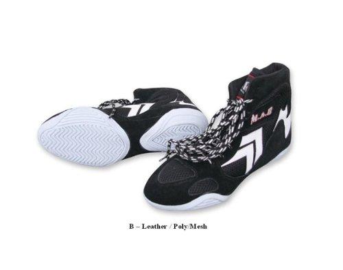 M.A.R International Ltd. Wrestling Schuhe Stiefel Training Schuhe Gym Sparring Gear 56 schwarz/weiß (Boden-ring Freistehender)