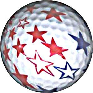 Stars and Stripes Cadeau idéal sur le thème de balle de Golf