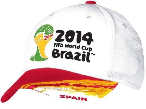 Spain Adidas 2014 FIFA World Cup Structured Flex Hat Hut - White -