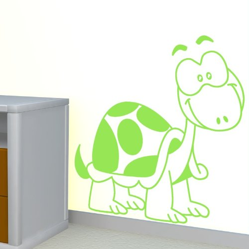 STICASA ' quot;Mr. Turtle–45x 46cm–Lime–Wandtattoo