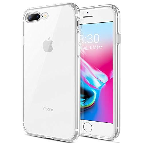 BoxLegend Handyhülle für iPhone 7 Plus 8 Plus Schutzhülle Stoßfest Weich TPU Durchsichtige Silikon Hülle-Transparent