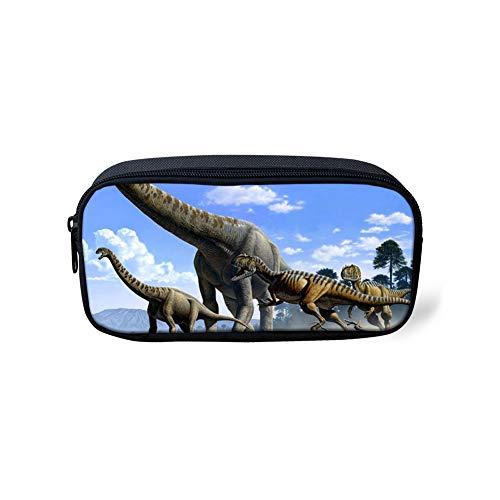 POLERO Dinosaurier Dino Big Kapazität Farbige Speicher-Beutel-Markierungs-Feder-Bleistift-Kasten-Briefpapier-Beutel-Halter für Mittelhochschule-Büro Student Mädchen, Frauen, Erwachsene Teen -