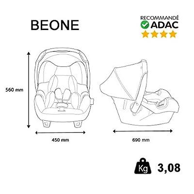 Autositz Baby von 0bis 13kg-Herstellung 100% Französische-4Sterne Test TCS-4Farben-Protektoren seitliche-CALE Kopf und Sitzfläche gepolstert.