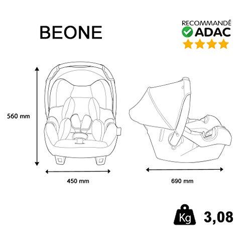 Mycarsit Beone Siège Auto Groupe 0+ Skyline Rose