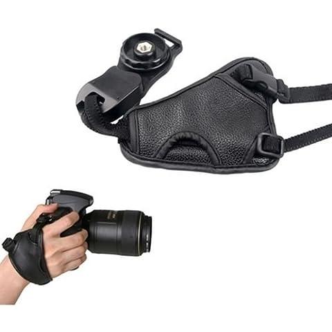 Interesting® Mano agarre suave PU correa de cuero para Canon Nikon Sony Pentax Olympus cámara