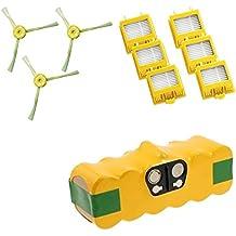 Batería 4500mAh extra Duración amarillas + Cepillos y Filtros Hepa para iRobot Roomba serie 700701702703704705706707708709710711712713714715716717718719720721722723724725726727728729730731732733734735736737738739740741742743744745746747748749750751752753754755756757758759760761762763764765766767768769770771772773774775776777778779780781782783784785786787788789790791792793794795796797798799garantía JSD