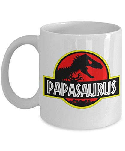 Papasaurus Rex, Fathers Day Mug - Funny Gift Mugs Day Dad Father Coffee Cup - Great Gift for Father's Day, Birthday or Anytime For Dad, Grandpa, Papa,