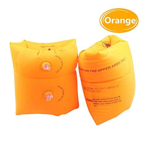 Floaties, XinGe Swim Arm Brand Gonfiabili Swim Roll up Bracci per armi Galleggianti Maniche per il nuoto Trainers Bracciali di galleggiamento Anelli Galleggianti Bracci per tubi per bambini e adulti 2 pezzi (non inclusi Pompa) (Arancione)