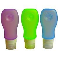 Silicone Travel Tubes Set - Squeezable Travel Tubes - Travel Tubes Refillable - 3oz/89ml Travel Bottles - Travel Tubes