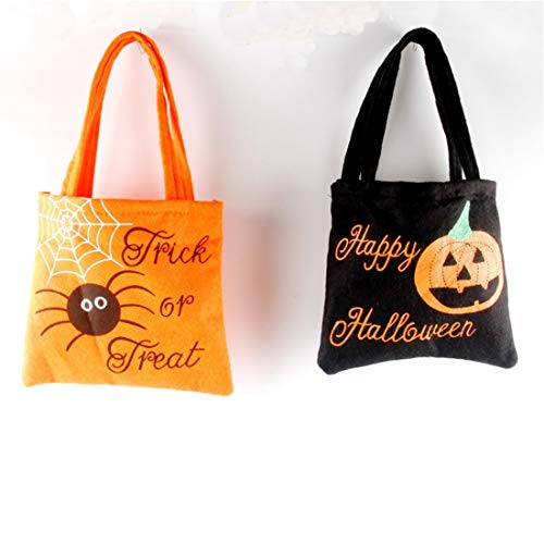 (VJUKUB Halloween Portable Non-Woven Stoff Tasche Ghost Festival Kinder Geschenk Candy Bag Prop Tasche 2 Pack)