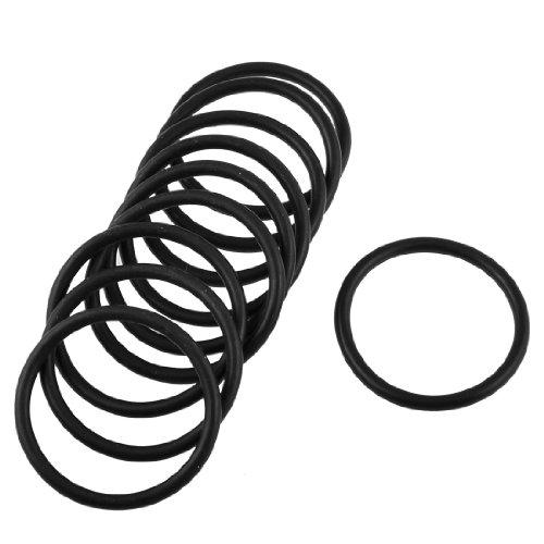 Schwarz 39mm x 33mm x 3mm Gummi O Ring Oil Seal Dichtung 10PCS (3 Mm Pc)