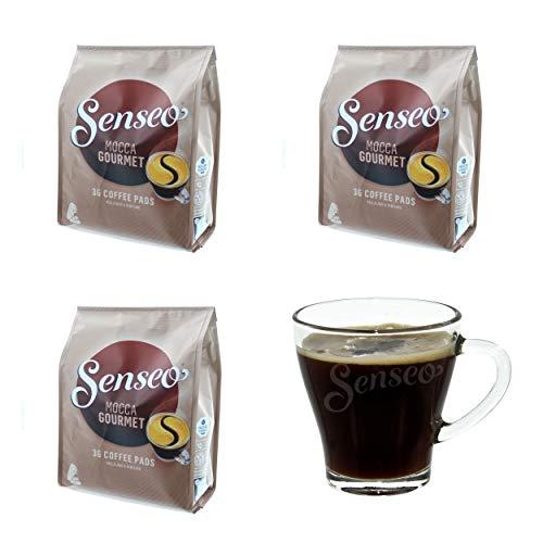 Senseo Kaffeepads Mocca Gourmet, Frisch & Intensiv, Kaffee für Kaffepadmaschinen, 108 Pads, mit...