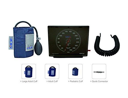 MDF® VeritusTM Blutdruckmesser Aneroid, Wand- und Tisch-Gerät - Große Erwachsenen-, Erwachsenen- und Kinder-Manschetten mit Schnell-Lösevorrichtung enthalten - Marineblau (MDF840D-04) - Blutdruckmanschette Erwachsene