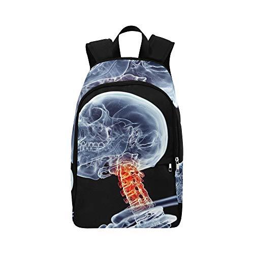 Medizinisch genaue schmerzhafte Hals lässig Daypack Reisetasche College School Rucksack für Männer und Frauen