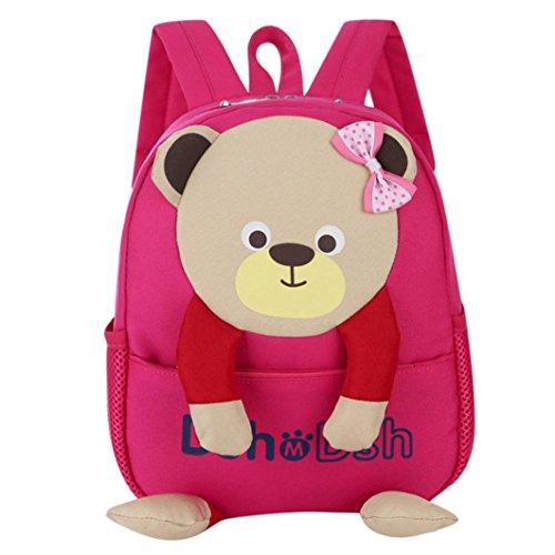 Bambino ragazzi ragazze bambini borsa orso modello cartone animato zaino piccolo scuola borse
