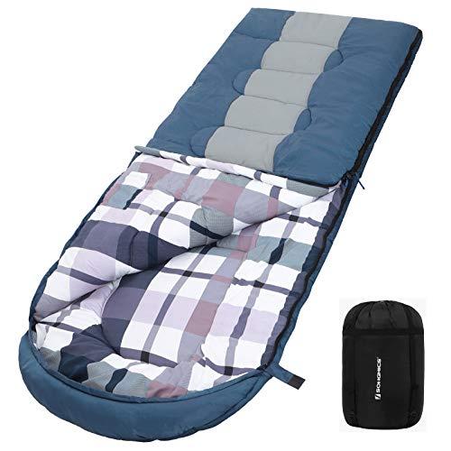 SONGMICS Saco Dormir Grande Bolsa Compresión, Temperatura