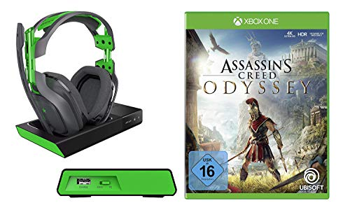 Assassin's Creed Odyssey + Astro Gaming A50 Headset Bundle, Wireless Dolby 7.1 inklusive MixAmp (Xbox One, Windows 7, Windows 8, Mac) schwarz/grün - Creed Assassins Mac 1
