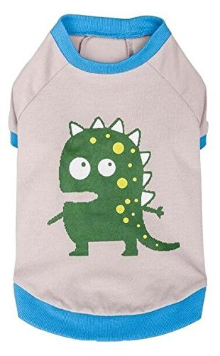 ückenlänge Hundebekleidung Polo T-Shirt Kleid Hemd Alien der Dinosaurier Baumwolle Hundeshirt in Grau, M ()