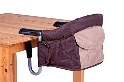 Haberkorn - Seggiolino per bambini, da agganciare al tavolo, colore: marrone/beige
