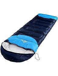 Al aire libre adultos engrosamiento de las estaciones camping portátil Camping senderismo saco de dormir 3–4estaciones