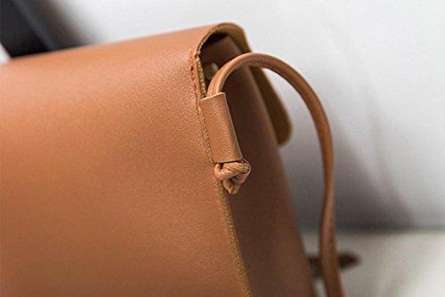 BZLine® Frauen Crossbody Tasche Umhängetasche Tasche Handytasche Taschen Braun
