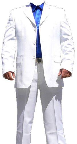 Western Party Country Kostüme Und (Herren Anzug Weiß Herrenanzug normal geschnitten Größe 52)