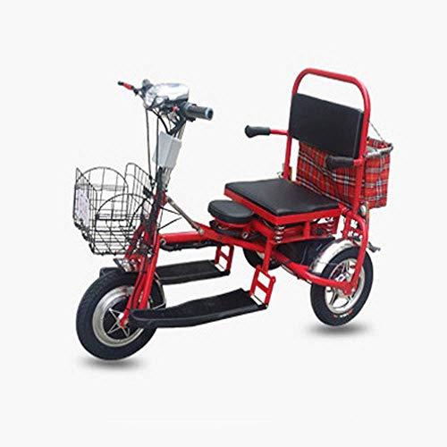 AA-folding electric bicycle ZDDOZXC Elektrischer Trike-Roller-faltbares Lithium-Protable-Mobilitäts-dreirädriges Stadt-Motorrad für ältere untaugliche Dreirad-Roller -