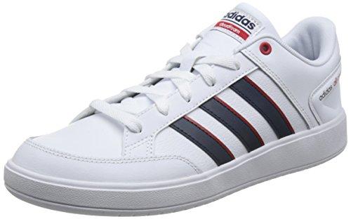 adidas Herren Cloudfoam All Court Gymnastikschuhe, Mehrfarbig (Ftwr White/Collegiate Navy/Scarlet Ftwr White/Collegiate Navy/Scarlet), 42 2/3 EU (Top-herren-tennis-schuhe)