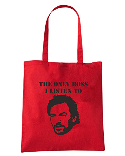 T-Shirtshock - Borsa Shopping FUN0123 05 26 2013 Only Boss I Listen To T SHIRT det Rosso