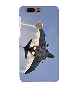 Fiobs Designer Back Case Cover for Huawei Honor 8 (Flying Fighter Plane Jet Airforce)