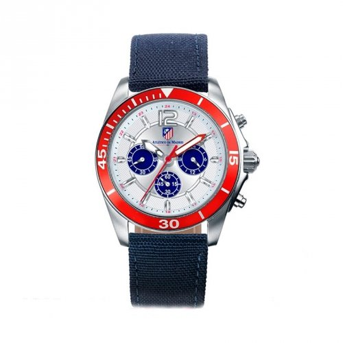 Atletico Madrid Uhr Viceroy 432877-05 Textile Blue Man