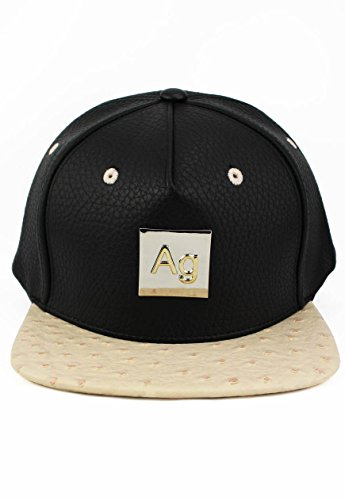Agora-Ostrich-Leather-Snapback-Mtze