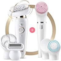 Braun Silk-épil 9 Flex 9-100 Beauty Set Epilator with Flexible Head Anti-Slip Grip and Pressure Control for Effortless...