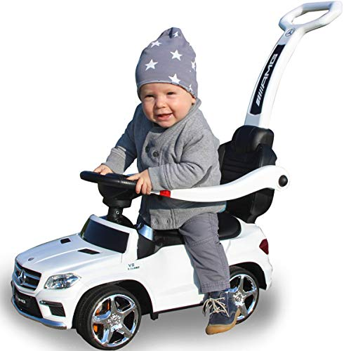 *Stimo Mercedes Benz AMG Rutschauto (offiziell lizenziert) Kinder Fahrzeug Rutscher Auto (AMG GL63 WEIß)*