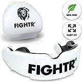 FIGHTR Premium Mundschutz | max.Sauerstoff und Sicherheit + Easy fit | BPA freier Zahnschutz inkl. Box | Boxen, MMA, Muay Thai