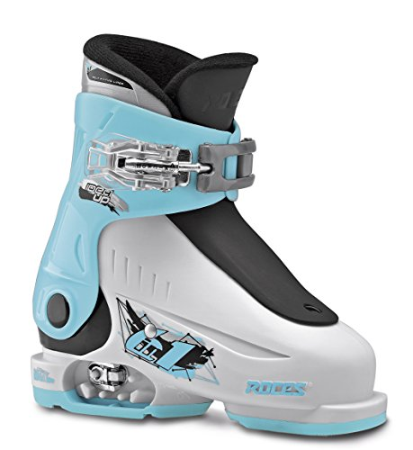 Roces Kinder Skischuhe Idea up Größenverstellbar, White-Lightblu-Black, 25/29, 450490-019