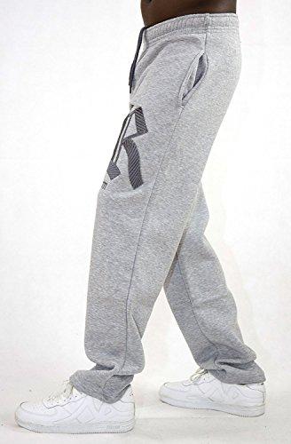 Redrum Jogginghose Sweatpants Sport Hose Baumwolle Modell Napoli Grau - Anthrazit