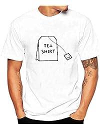 5f75ddb072f3ae YEBIRAL Oversize Herren T-Shirt Freizeit Rundhals Kurzarm Sweatshirt  Modernes Basic Shirt mit Print Top