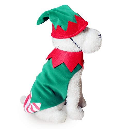 Xiton Haustier-Kostüm für Hunde, Weihnachtsmann, Halloween, Kürbis-Transformer, Schneeflocke, Elch (1 x S)