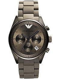 Emporio Armani AR5950 - Reloj para hombres, correa de silicona color gris