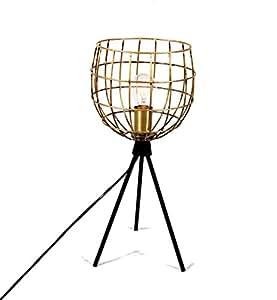 Lampe cage en métal (D.25xH.48cm)