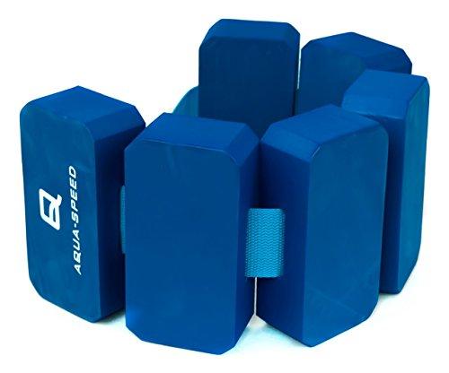 AQUA-SPEED® SCHWIMMGÜRTEL (6-teilig Größenverstellbar Schwimmhilfe Schwimmgurt Aqua Cardiotraining Wasser Rehabilitation Stützend)
