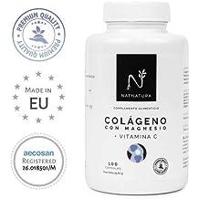 Colágeno con magnesio. Colágeno marino hidrolizado+magnesio+Ácido hialurónico+vitamina C.