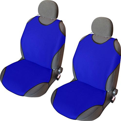 CSC402 - T-Shirt maglietta Schienali cuscino del sedile auto, copertura di sede dell'automobile, Seggiolino Auto Protector, Coprisedili blu (1 coppia)