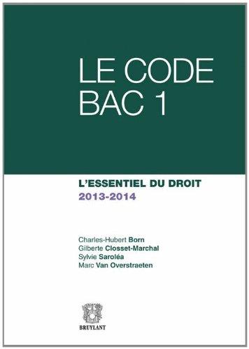 Le Code Bac 1 2013-2014