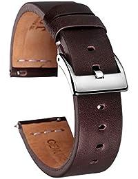 Vintage Leather Strap mano cinturino in vitello 22 millimetri 18 millimetri 20 millimetri veloce Uomini Stampa'S e guardare cinghia delle donne, caffè, 18 millimetri